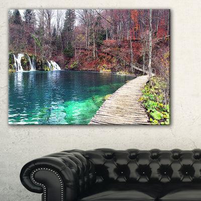 Designart Plitvice Lakes National Lark LandscapePhotography Canvas Art Print