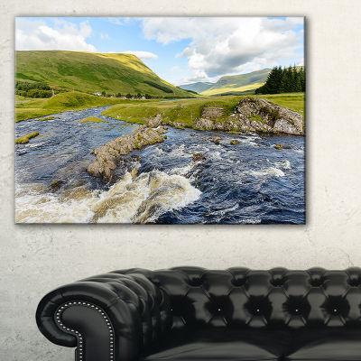 Designart Publi And River Lyon Landscape Photography Canvas Art Print - 3 Panels