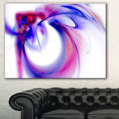Designart Purple Abstract Fractal Art Abstract Canvas Art Print - 3 Panels