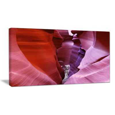 Designart Purple Antelope Canyon View Landscape Photography Canvas Print