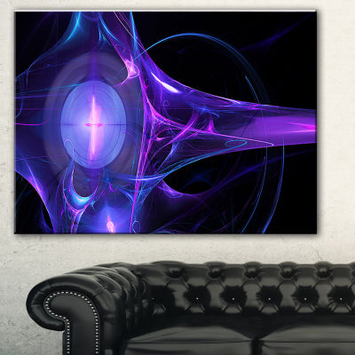 Designart Purple Bright Candle Abstract Canvas ArtPrint