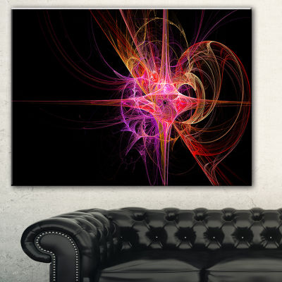 Designart Purple Bright Star Abstract Canvas ArtPrint