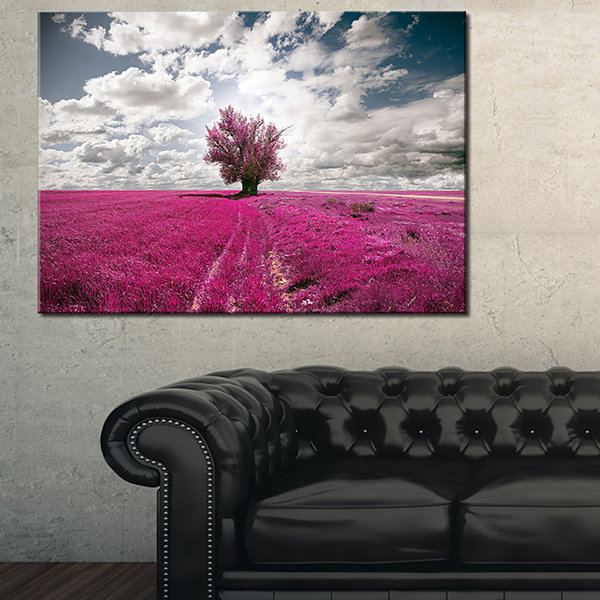 Designart Purple Tree Dreamscape Landscape Photography Canvas Print