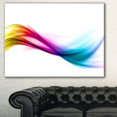 Designart Rainbow Abstract Pattern Abstract CanvasArt Print - 3 Panels