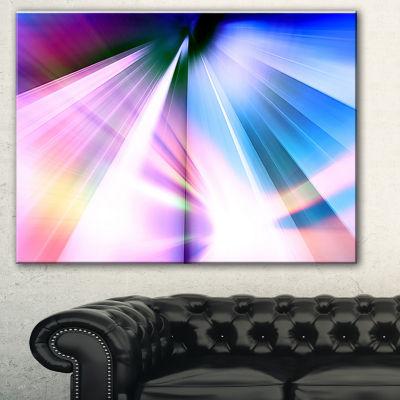 Design Art Rays Of Speed Blue Abstract Canvas ArtPrint