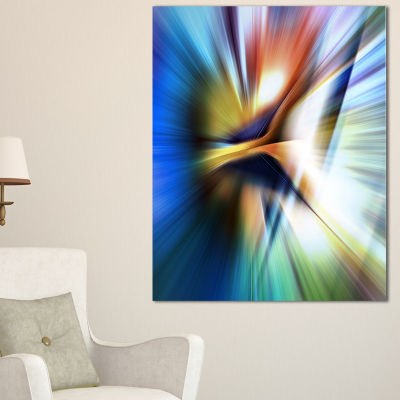 Designart Rays Of Speed Center Abstract Canvas ArtPrint - 3 Panels