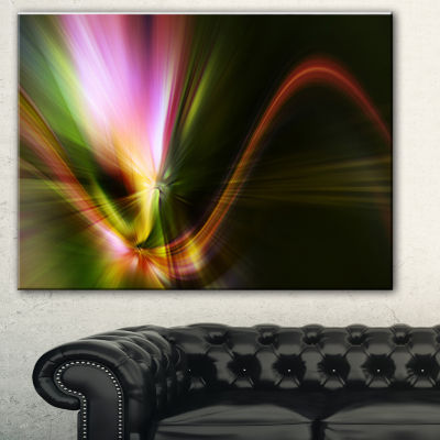 Designart Rays Of Speed Green Abstract Canvas ArtPrint