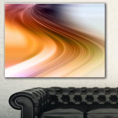 Designart Rays Of Speed Green Orange Abstract Art-3 Panels