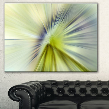 Designart Rays Of Speed Green Purple Abstract Art