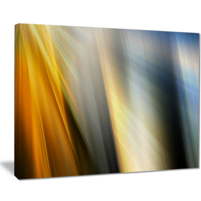 Designart Rays Of Speed Vertical Abstract CanvasArt Print