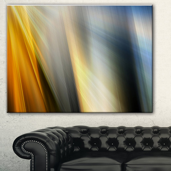 Designart Rays Of Speed Vertical Abstract CanvasArt Print - 3 Panels
