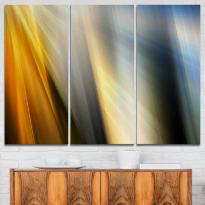 Designart Rays Of Speed Vertical Abstract Canvas Art Print - 3 Panels