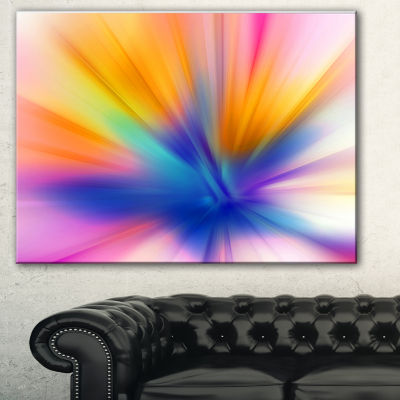 Designart Rays Of Speed Yellow Abstract Canvas ArtPrint