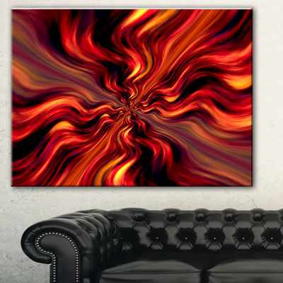 Designart Red Infinity Illustration Abstract Canvas Art Print