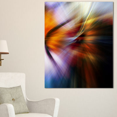 Designart Red Orange Fusion Of Hues Abstract Canvas Art Print
