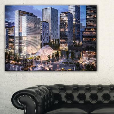 Designart Residential Complex Close Up Cityscape Photo Canvas Print - 3 Panels