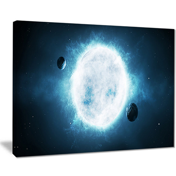 Designart Star Spacescape Canvas Art Print