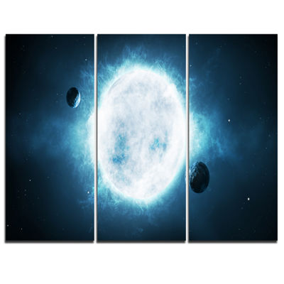Designart Star Spacescape Canvas Art Print - 3 Panels