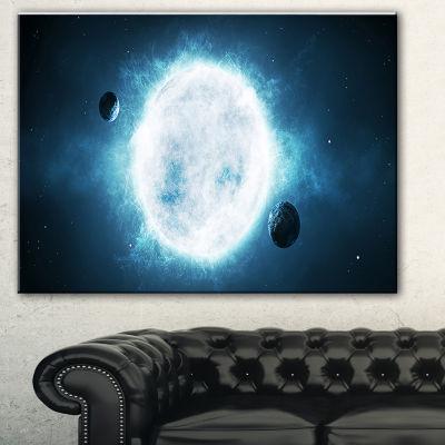 Designart Star Spacescape Canvas Art Print - 3 Panels