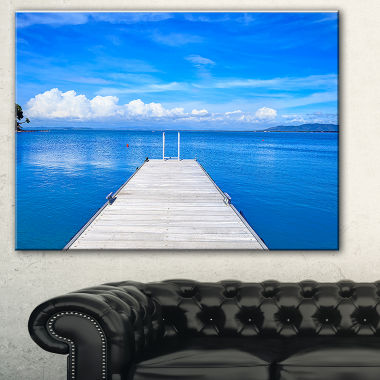 Design Art Wooden Pier Seascape Canvas Art Print