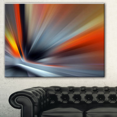 Designart Rays Of Speed Lines Abstract Canvas ArtPrint