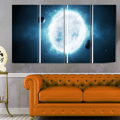 Designart Large Star Spacescape Canvas Art Print -4 Panels