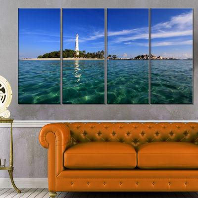 Designart Lengkuas Island indonesia Seascape Canvas Art Print - 4 Panels