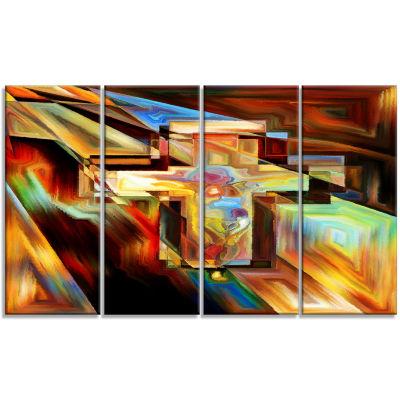 Designart Light of The Cross Abstract Canvas Artwork - 4 Panels
