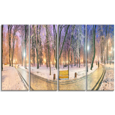 Designart Mariinsky Garden Path Panorama LandscapePhotography Canvas Print - 4 Panels