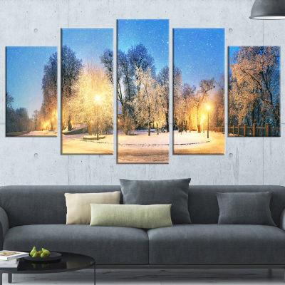 Mariinsky Garden Tough Weather Landscape Photography Canvas Print - 4 Panels