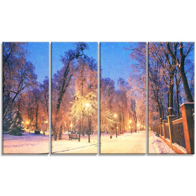 Designart Mariinsky Garden Wide View Landscape Photography Canvas Print - 4 Panels