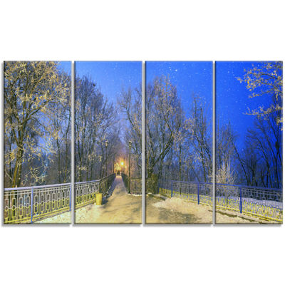 Designart Mariinsky Garden With Blue Sky LandscapePhotography Canvas Print - 4 Panels