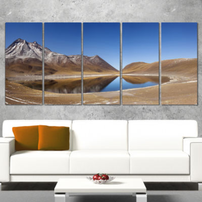 Designart Miniques Lagoon North of Chile Extra Large Seashore Wrapped Canvas Art - 5 Panels