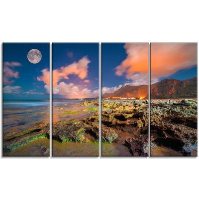 Designart Monte Cofano Nature Reserve Landscape PhotographyCanvas Print - 4 Panels