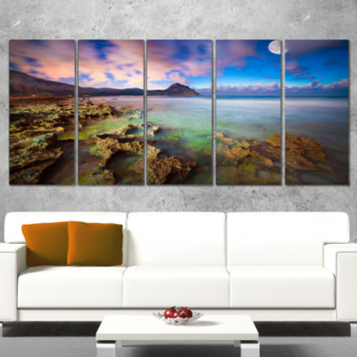 Designart Monte Cofano Reserve Landscape Photography CanvasArt Print - 4 Panels