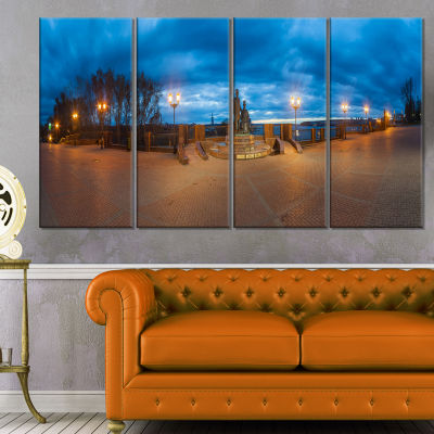 Monument To Armories Panorama Landscape Print WallArtwork - 4 Panels