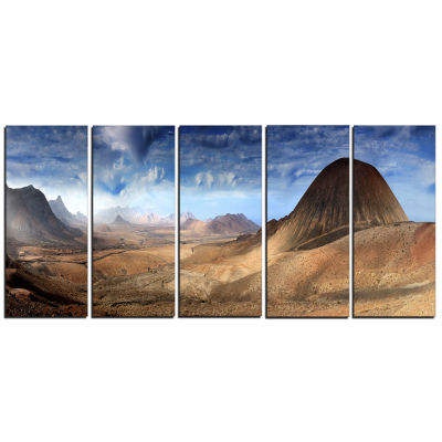Mountain Scenery Panorama Landscape Photography Canvas Print - 5 Panels
