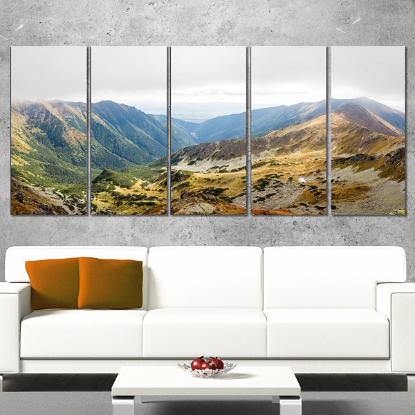Designart Mountains From Ostry Peak Tatras Landscape CanvasArt Print - 4 Panels