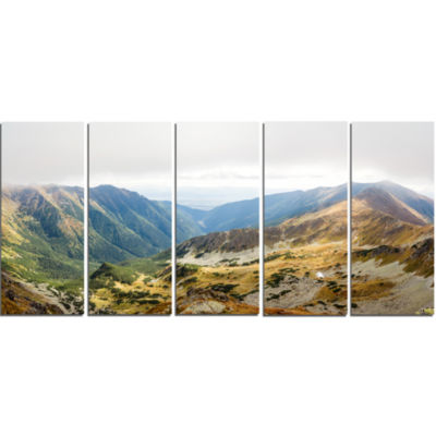 Mountains From Ostry Peak Tatras Landscape CanvasArt Print - 5 Panels