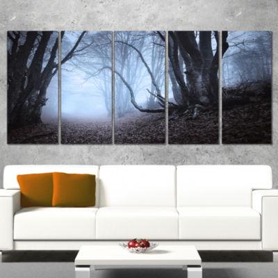 Designart Natural Landscape in Autumn Landscape PhotographyCanvas Print - 4 Panels