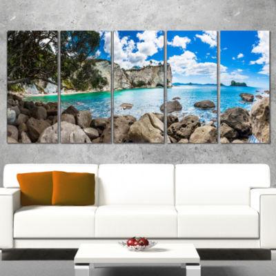 Designart Nestor Notabilis Kea Panorama Extra Large SeashoreCanvas Art - 4 Panels