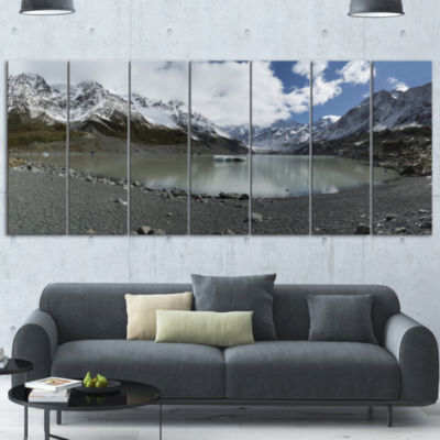 Designart New Zealand Mountains Panorama Large Landscape Canvas Art - 5 Panels