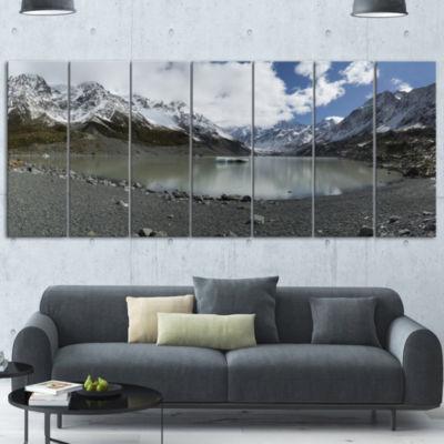 Designart New Zealand Mountains Panorama Large Landscape Canvas Art 7 Panels