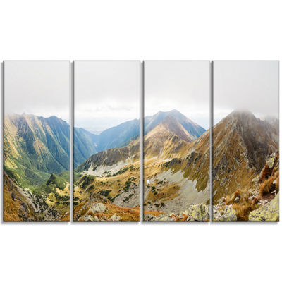 Designart Ostry Rohac and Placlive Peaks LandscapeCanvas Art Print - 4 Panels