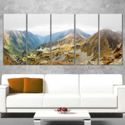 Designart Ostry Rohac and Placlive Peaks LandscapeWrapped Canvas Art Print - 5 Panels
