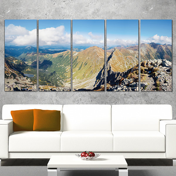 Ostry Rohac and Volovec At Tatras Landscape CanvasArt Print - 4 Panels