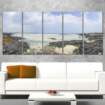 Panorama View of Woljeongri Beach Landscape CanvasArt Print - 4 Panels