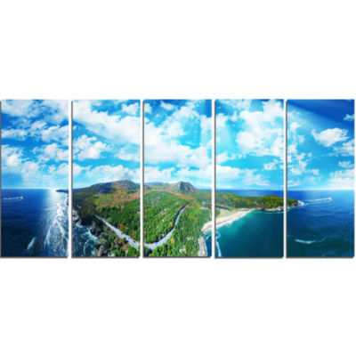 Panoramic Acadia National Park Landscape Photography Canvas Print - 5 Panels