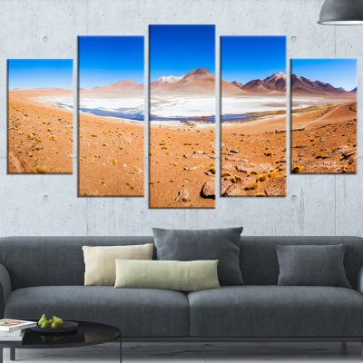 Panoramic View of Laguna Honda Modern Seascape Wrapped Canvas Artwork - 5 Panels