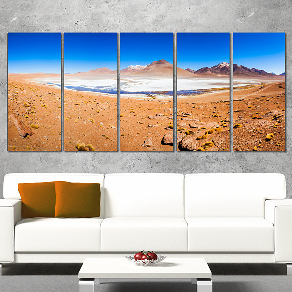Panoramic View of Laguna Honda Modern Seascape Canvas Artwork - 5 Panels